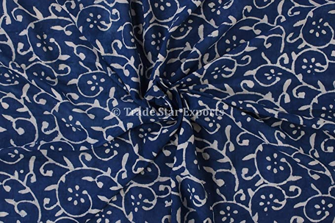 New indian cotton fabric block print fabric dress Vegetable dyed Indian fabric fabric by yard womens clothing\u00a0Handmade Block Printed Garment