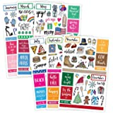 Bloom Daily Planners Holiday Seasonal Planner Sticker Sheets - Seasonal Sticker Pack - Over 230 Stickers Per Pack!