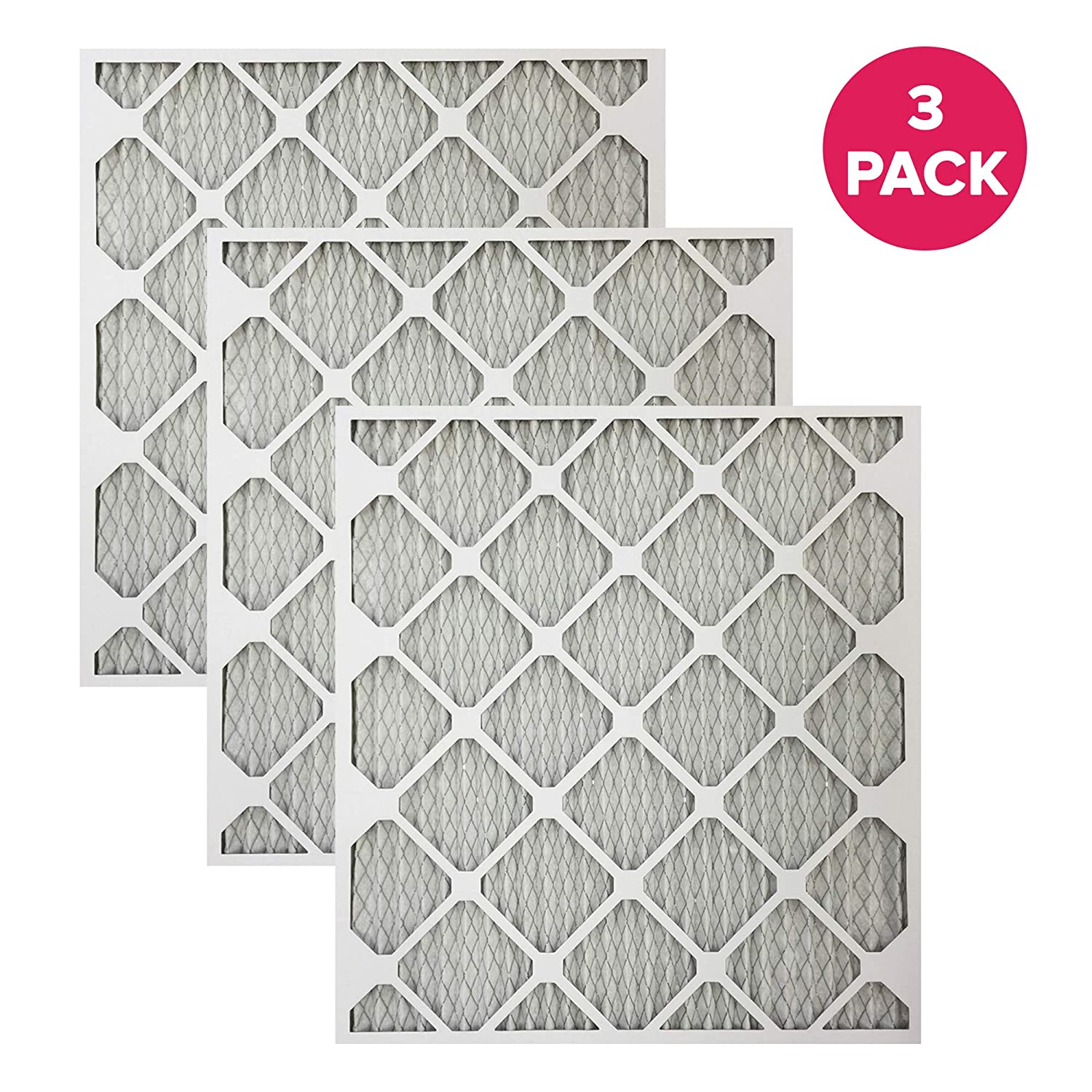 Pleated Think Crucial 3 Replacements for 21x23x1 MERV 11 Allergen Air Furnace /& Air Conditioner Filter