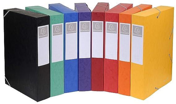 Exacompta 16009H - Archivador sin anillas (24 x 32 cm, 10 unidades), multicolor