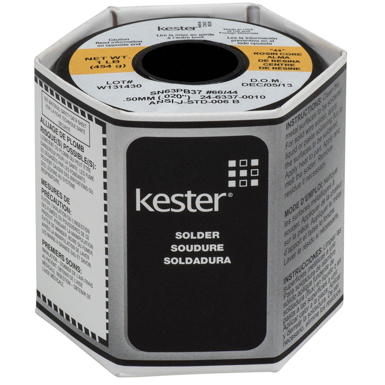 Kester 24 6337 0010 44 Rosin Core Solder 63 37 .020 1 lb. SPOOL
