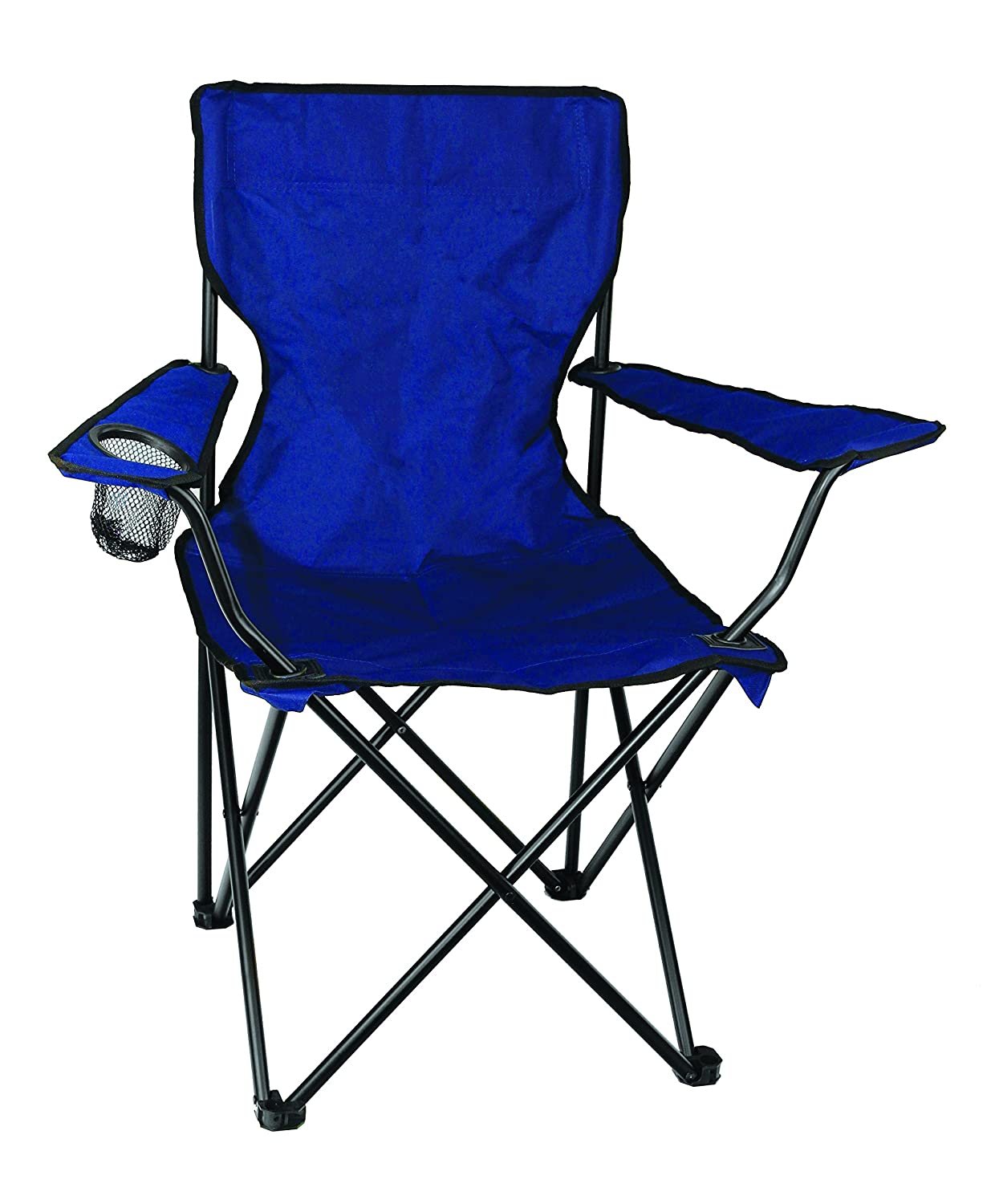 amazoncom texsport bazaar folding camp picnic outdoor chair with drink holder camping chairs sports u0026 outdoors - Folding Outdoor Chairs