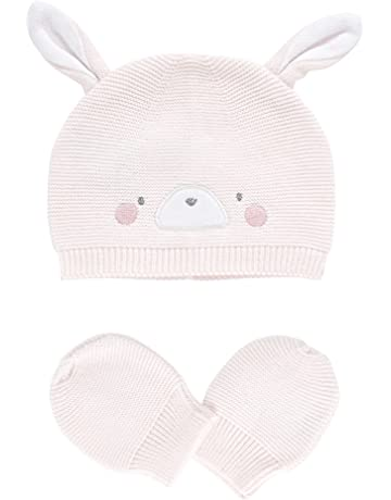 8cee35c67b2 Mothercare Baby Girls  True Novelty Purl Knit Hat   Mitts