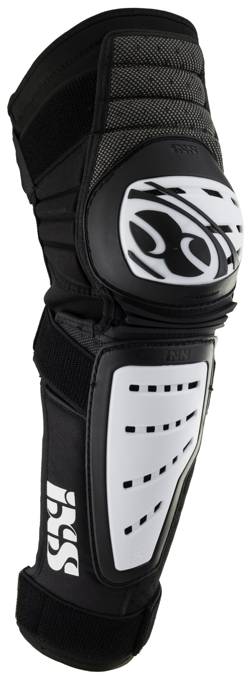 IXS Cleaver Knee/Shin Guards white/black (Size: M) leg protector by IXS (Image #1)