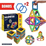 Magnetic Blocks Building Set for Kids, 30+2 Pcs Educational Toys for Boys & Girls, FREE Booklet, Learning Construction Game, Best Christmas Birthday Gift & Preschool Indoor Toy for Childrens