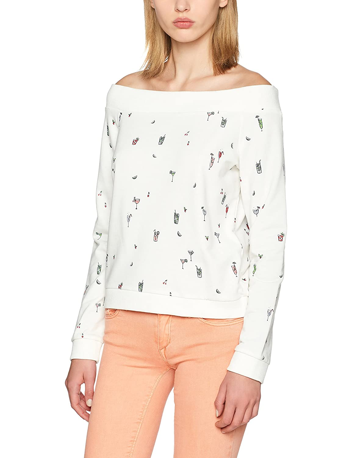 TALLA 36 (Talla del fabricante: Small). Only Onlstella L/S AOP Off Shoulder Swt Sudadera para Mujer