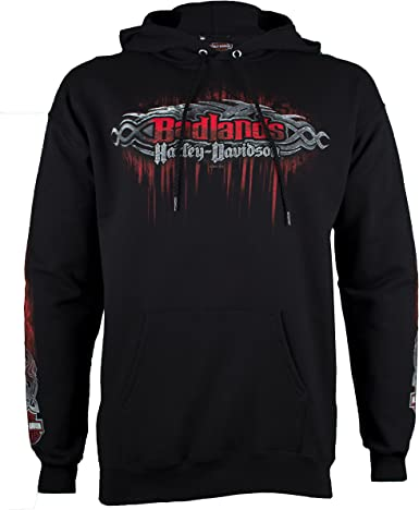 Badlands Harley-Davidson® Men/'s Edge Black Pullover Hoodie Sweatshirt