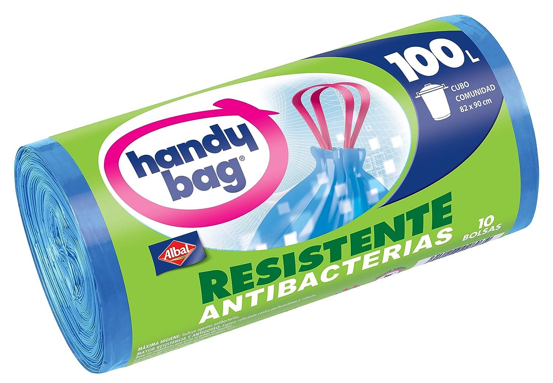 Handy Bag Bolsas de basura antibacterias, 30 l, resistentes, autocierre, antigoteo, 15 unidades: Amazon.es: Salud y cuidado personal