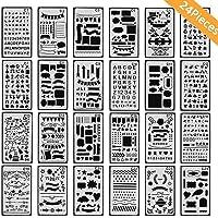 Diario Stencil Set, AOLVO diario plástico reutilizable plantillas