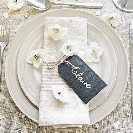 Etiquetas pequeñas de estilo vintage para boda, hechas con ...