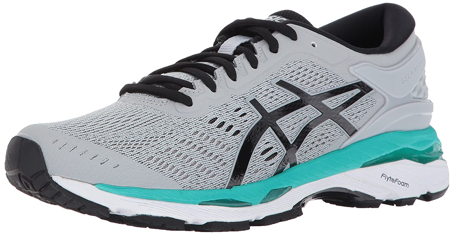 ASICS Women's Gel-Kayano 24 Running Shoe B01N0AQHLC 11 B(M) US|Mid Grey/Black/Atlantis