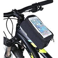 DCCN Bolsa de Bicicleta con Pantalla de PVC Transparente y Cable de Extensión de Audio o Video para Teléfonos Móviles