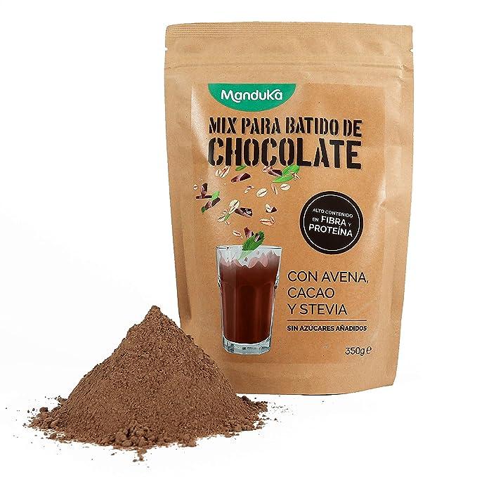 Mix para Batido de Chocolate con Avena, Cacao y Stevia, pack de ...