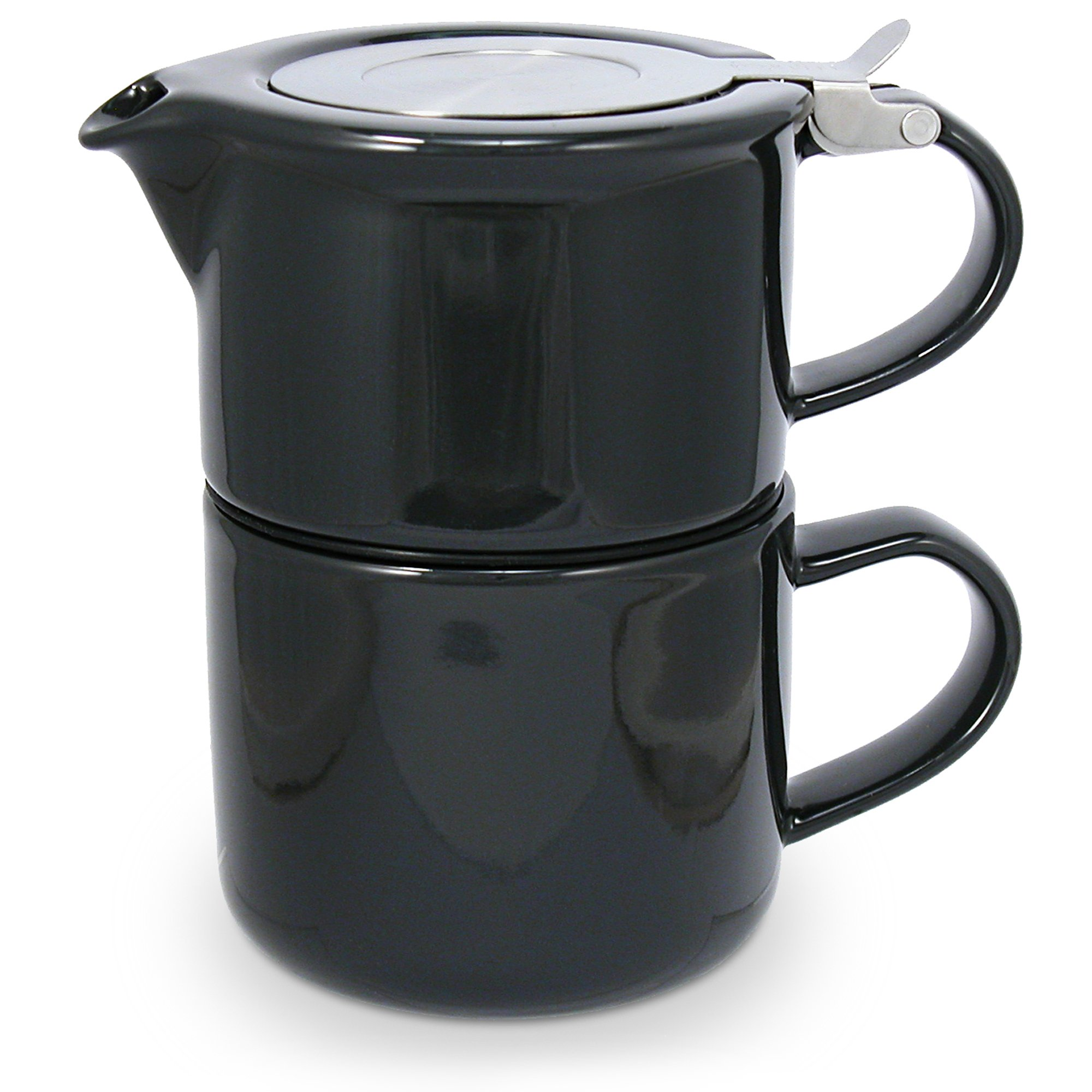 FORLIFE Tea for One with Infuser 14 ounces, Black Graphite by FORLIFE