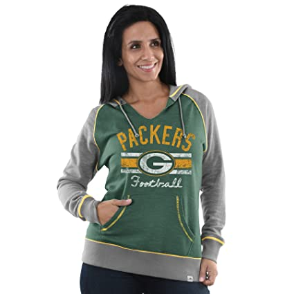 91042c1a Majestic Athletic Green Bay Packers Buttonhook Women's Pullover Hooded  Sweatshirt