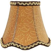 Minkissy Abajur de tecido vintage para abajur de mesa, 12,7 x 12,7 x 12,7 cm, bronze