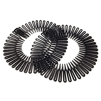 2 Black Flexi Combs