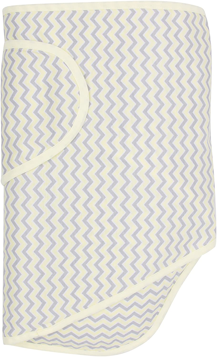 Miracle Blanket Baby Swaddle, Chevrons with Yellow Trim Miracle Baby 46922