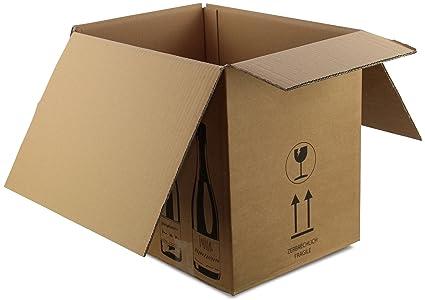 PTZ de cajas de cartón/6 botellas 305 x 210 x 360 mm (Medidas