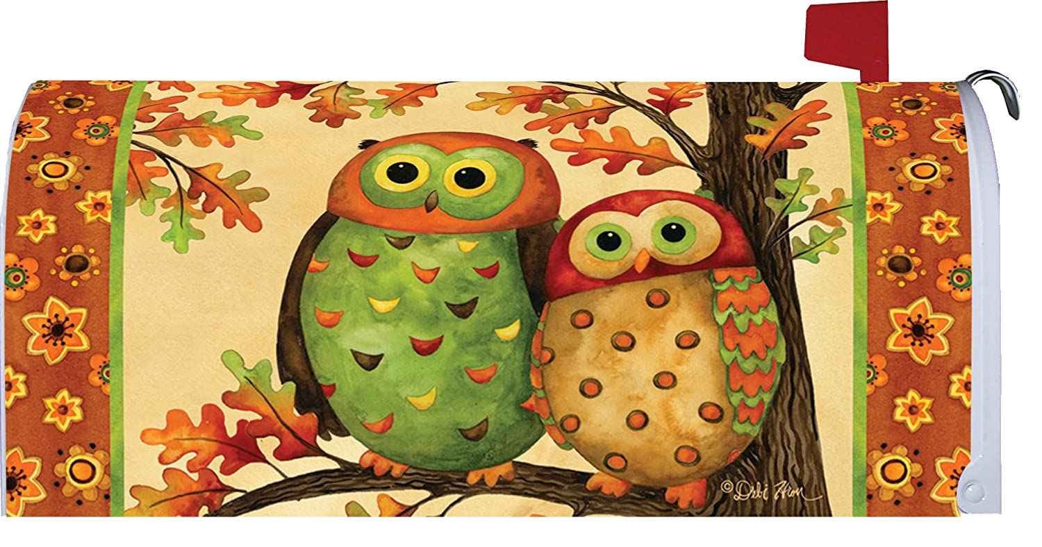 Autumn Owls Mailbox Makover Cover - Vinyl with Magnetic Strips Custom Decor Inc Belle Rose
