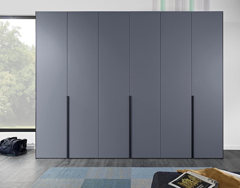 Drehtürenschrank Multiplay Straight Design Anthrazit Graublau Lack