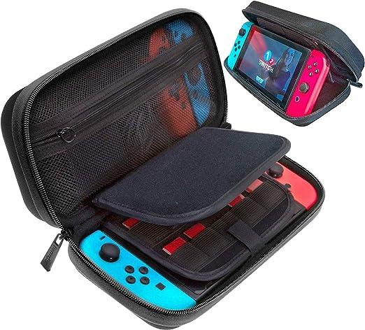 ButterFox - Funda de transporte compatible con Nintendo Switch con 18 soportes para tarjetas de juego y 2 ranuras Micro SD, color negro: Amazon.es: Videojuegos