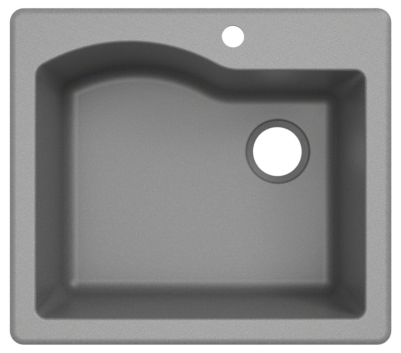 Kraus KGD-441BLACK Quarza Granite Kitchen Sink 25-inch Black
