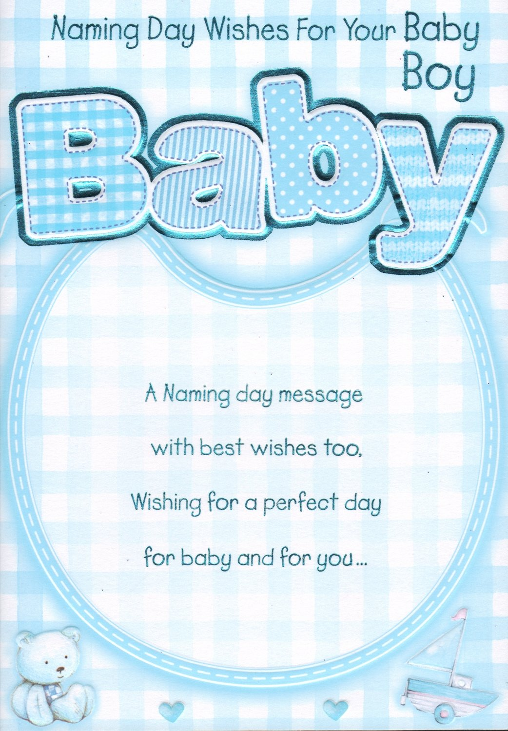 Naming day card naming day wishes for your baby boy amazon naming day card naming day wishes for your baby boy amazon garden outdoors m4hsunfo Choice Image