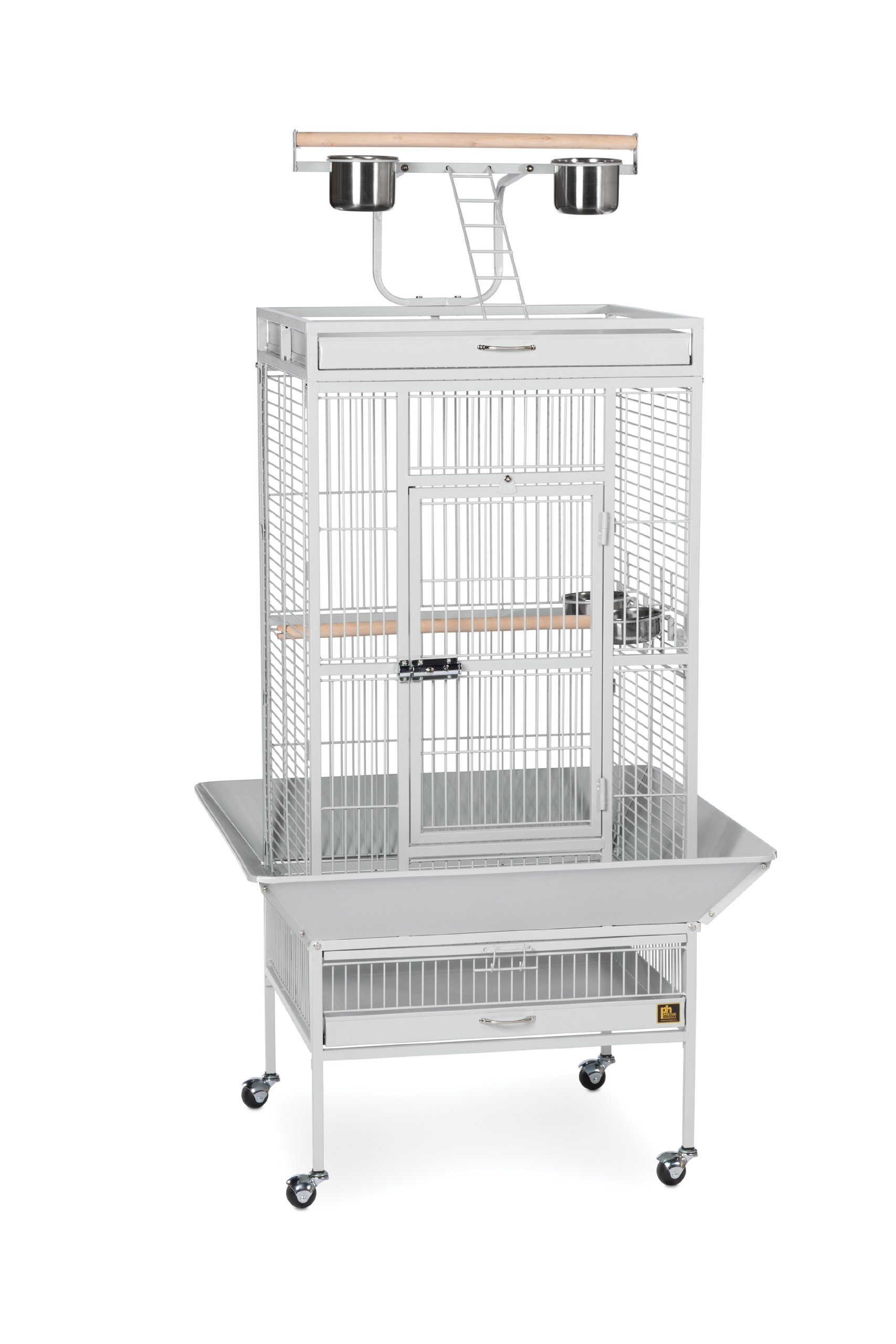 Prevue Pet Products Wrought Iron Select Bird Cage 3152W Pewter, 24-Inch by 20-Inch by 60-Inch by Prevue Hendryx