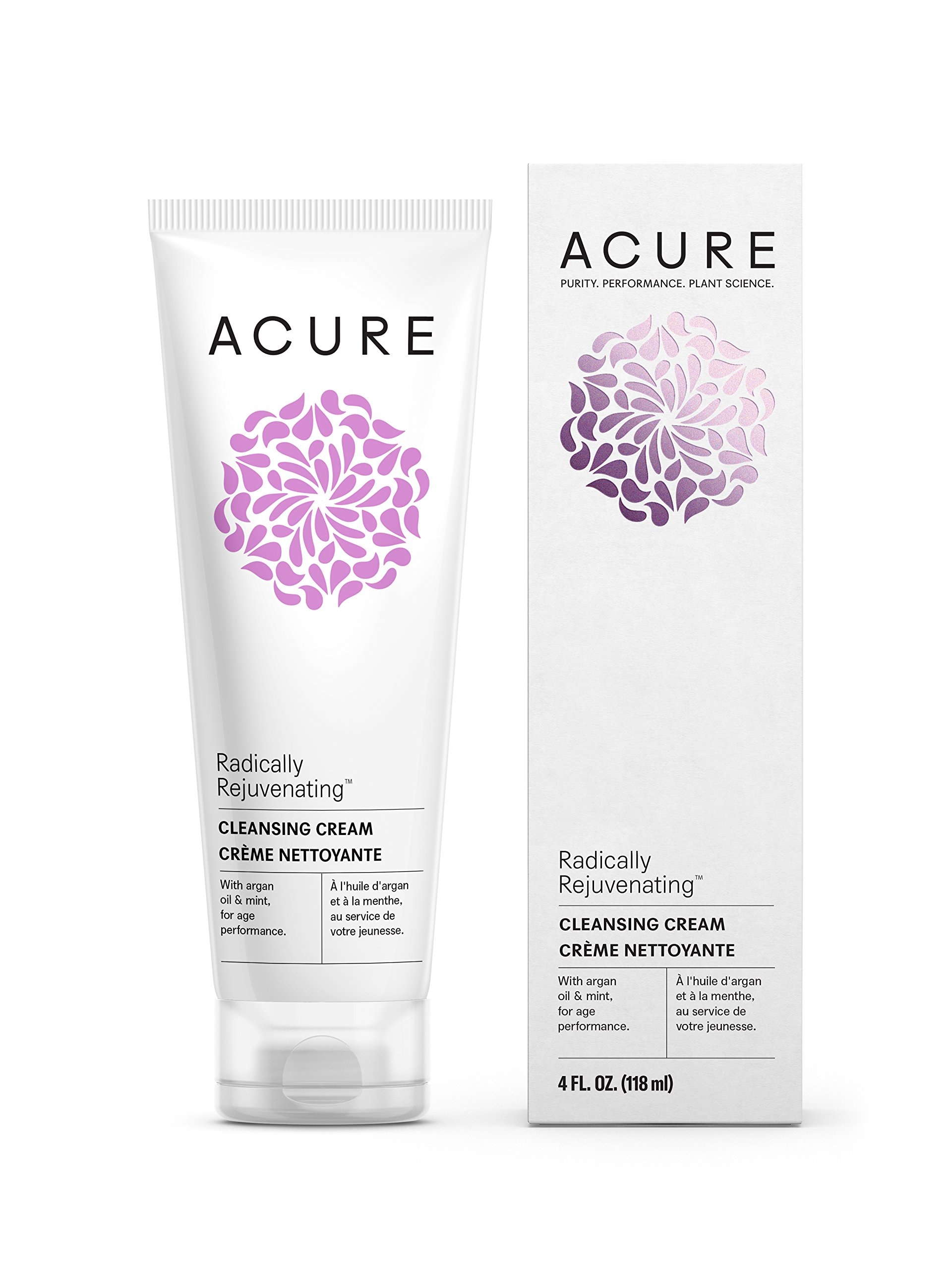 Acure Radically Rejuvenating Cleansing Cream, 4 Fluid Ounces (Packaging May Vary)