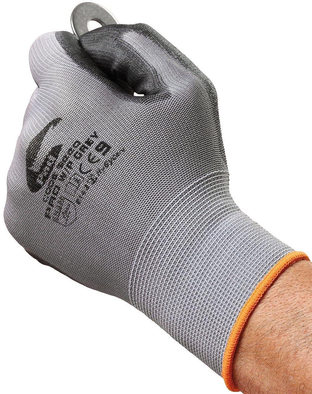 Graue Touchscreen Arbeitshandschuhe – Nutzen Sie Ihr Mobiltelefon Easy Off Gloves Ltd
