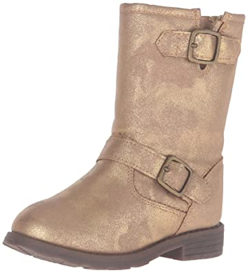 a48431b5f Carter's Girls' AQION Boot Bronze 5 M US Toddler