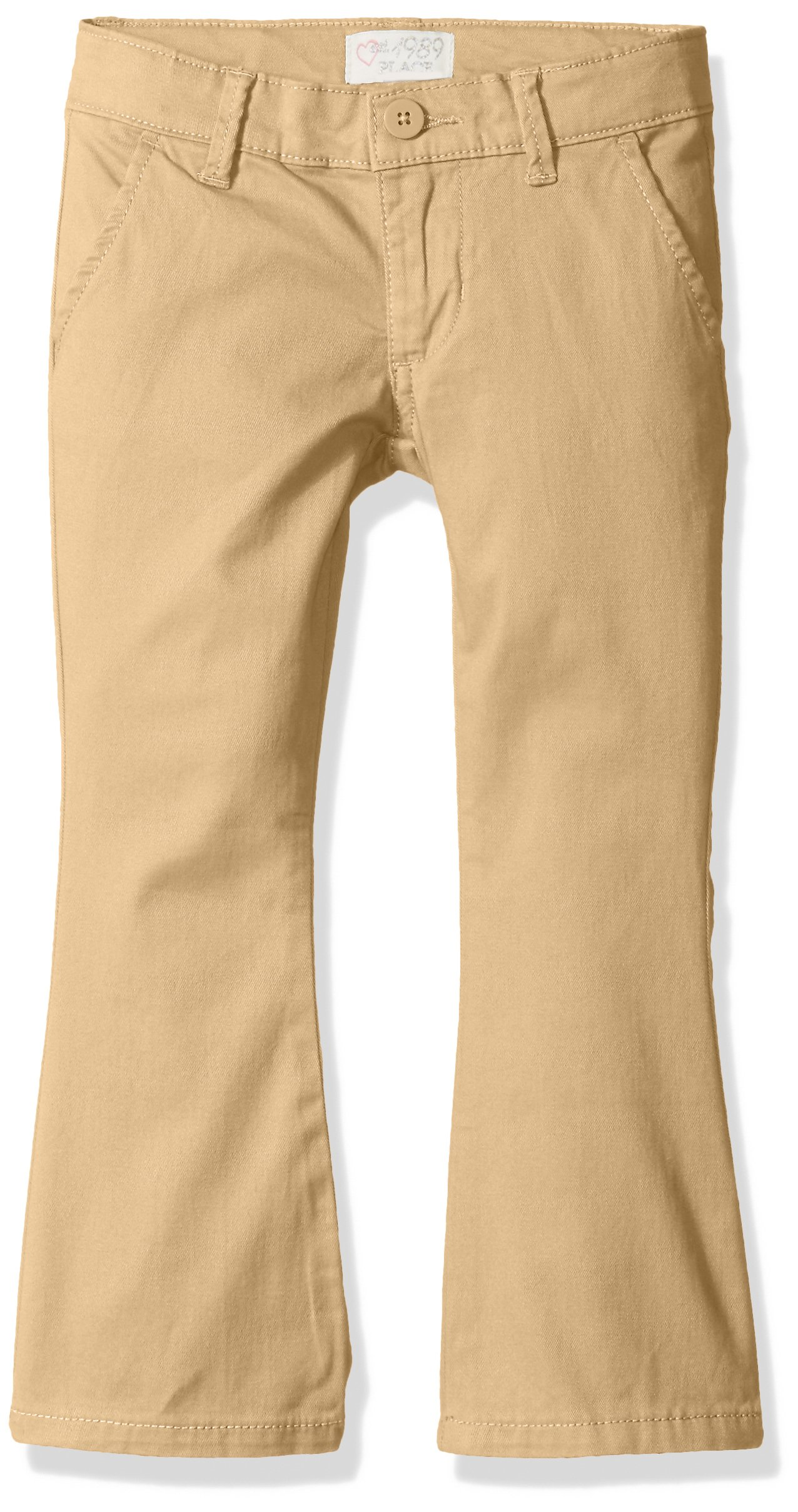 The Children's Place Girls Size Uniform Pants, Sesame 44403, 6X/7 Slim