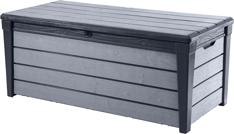 Keter Arcón de y Universal Brushwood Box, 455L, Antracita/Gris