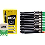 Listo 1620 and 162 Marking Pencils Kit, Color: Green, 12 Pencils, 72 Refill Leads - Grease Pencils/China Marking Pencils/Wax