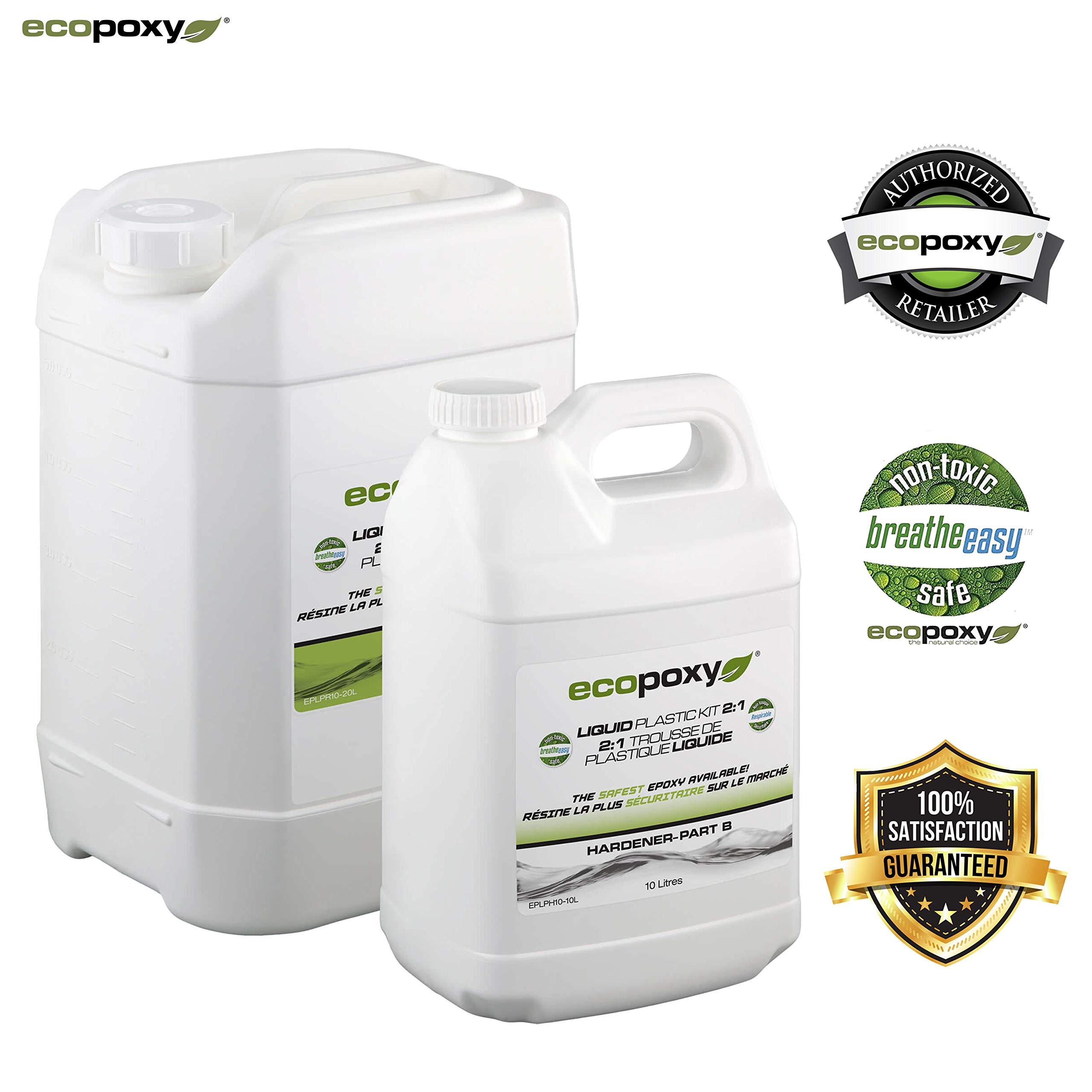 Ecopoxy | Epoxy Resin | Liquid Plastic 2:1 Ratio (30L (7.9 gal) kit)