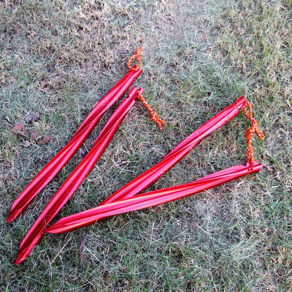 5 ST/ÜCKE 25 cm Spirale Dreieckige Randzelt Nagel Mit Wind Seil F/ür Camping Wandern Verwendung Zelt N/ägel Rot