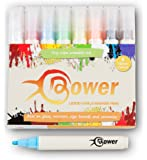 Bower 8 Colour Chalk Pens - Dry Wipe Clean Pen for Glass, Chalkboards, Window and Mirror Writing. Wipeable Non Permanent Cafe Erasable Markers