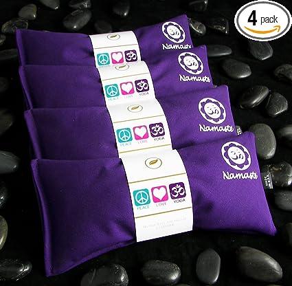Amazon.com: Namaste Yoga Lavanda Eye almohada – Purple ...
