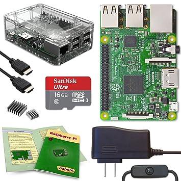 Viaboot Raspberry Pi 3 - Kit Completo de Tarjeta Micro SD Oficial ...
