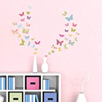 DECOWALL DS-8005 Patterned Butterflies Kids Wall Stickers Wall Decals Peel and Stick Removable Wall Stickers for Kids…