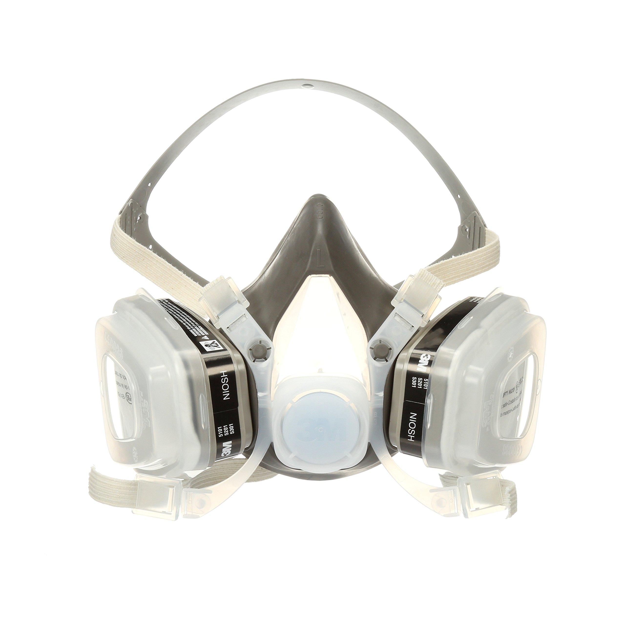 3M Half Facepiece Disposable Respirator Assembly 52P71/66069, Organic Vapor/P95, Medium