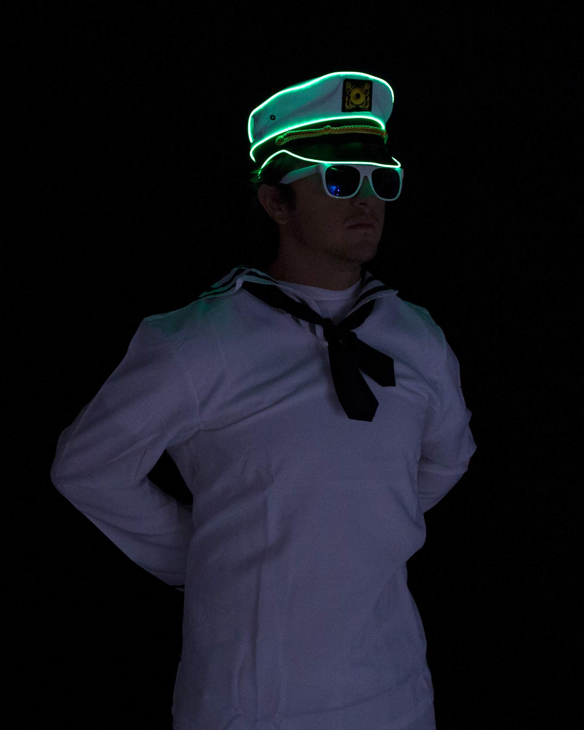 Electric Styles Sailor Hat - Lime Green LED by Electric Styles (Image #3)