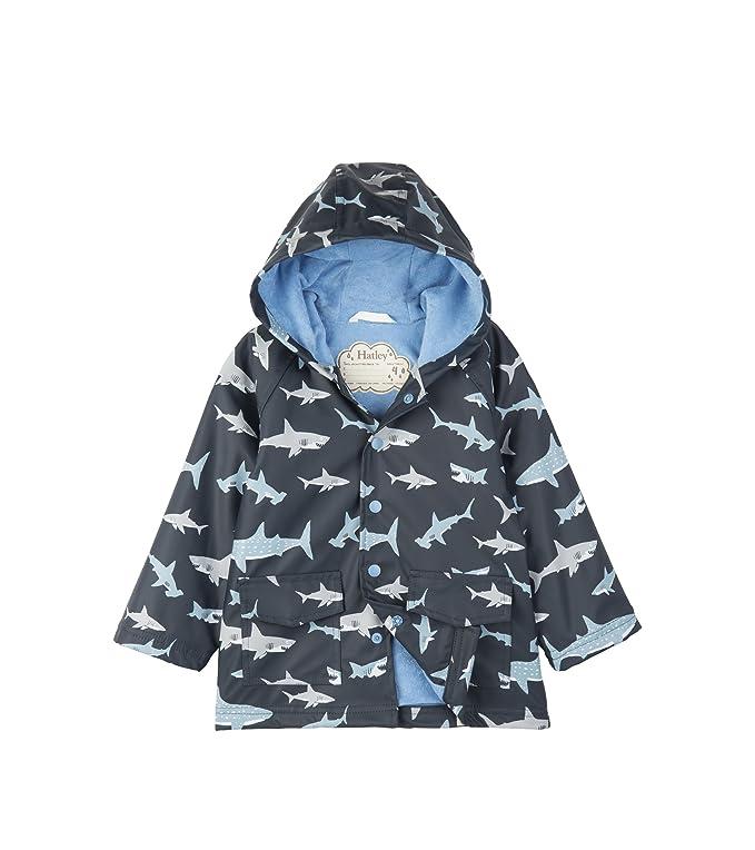 Shark Frenzy Blue Hatley Boys Printed Rain Jacket 3 Years