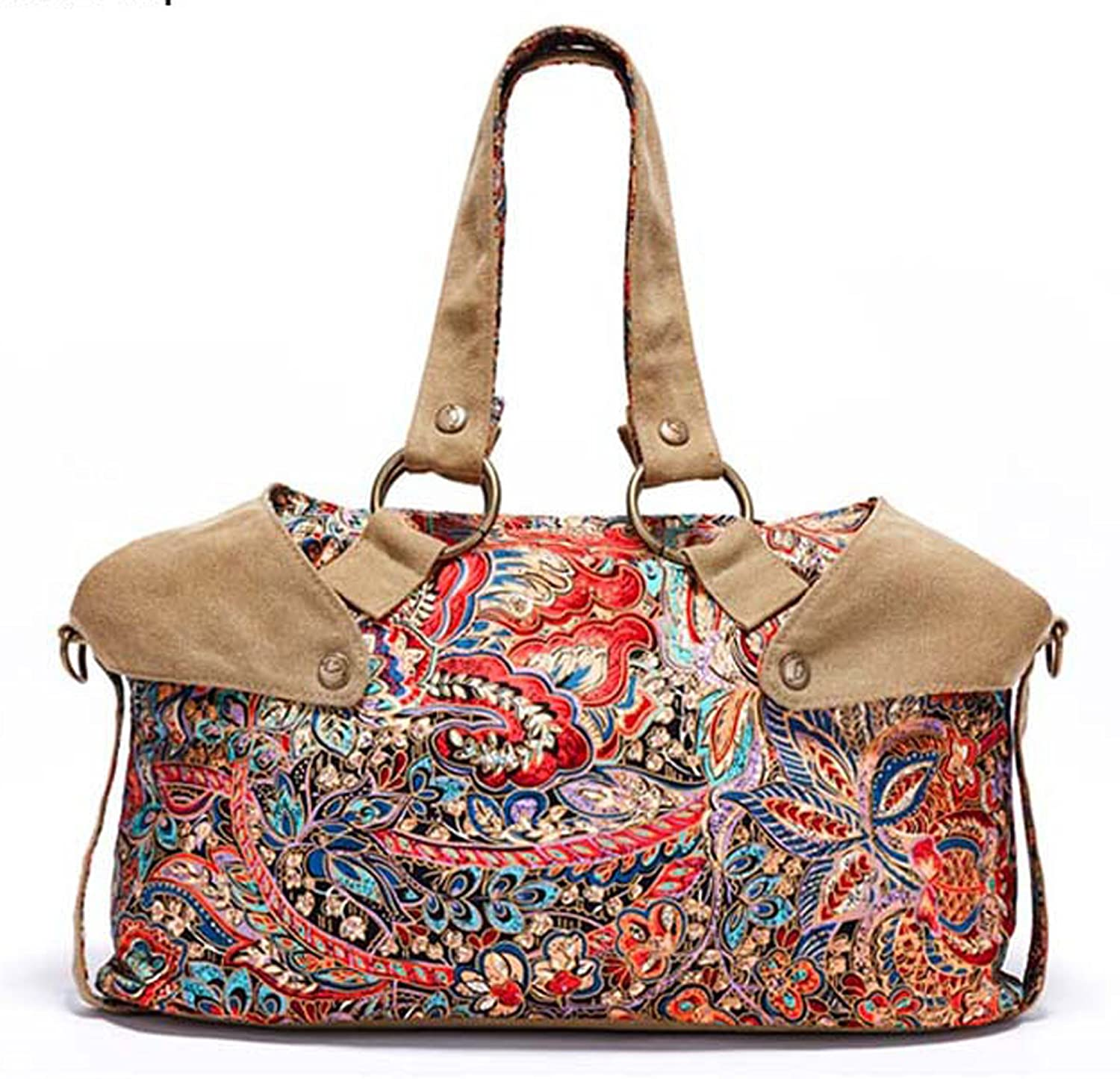 AINISI Womens New Fashion Printing Canvas Handbag Top Handle Bags Shoulder Bags