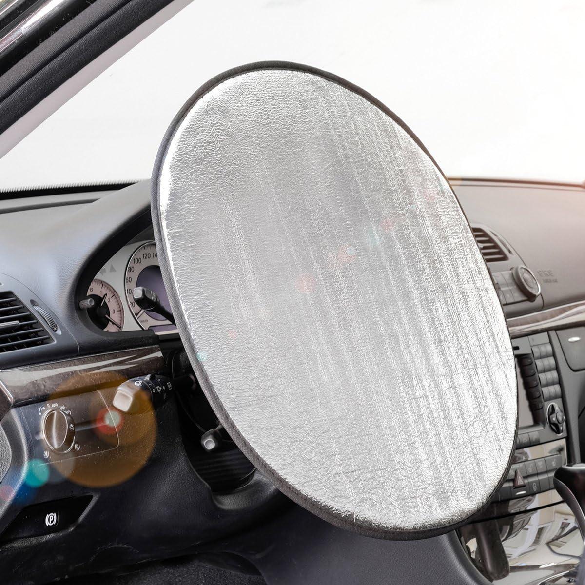 Lenkradschutz Durchmesser 42,5 cm Lenkradbezug anti Hitze keine Verbrennungen Sonneneinstrahlungen werden reflektiert Abdeckung Lenkrad Hitzeschutz