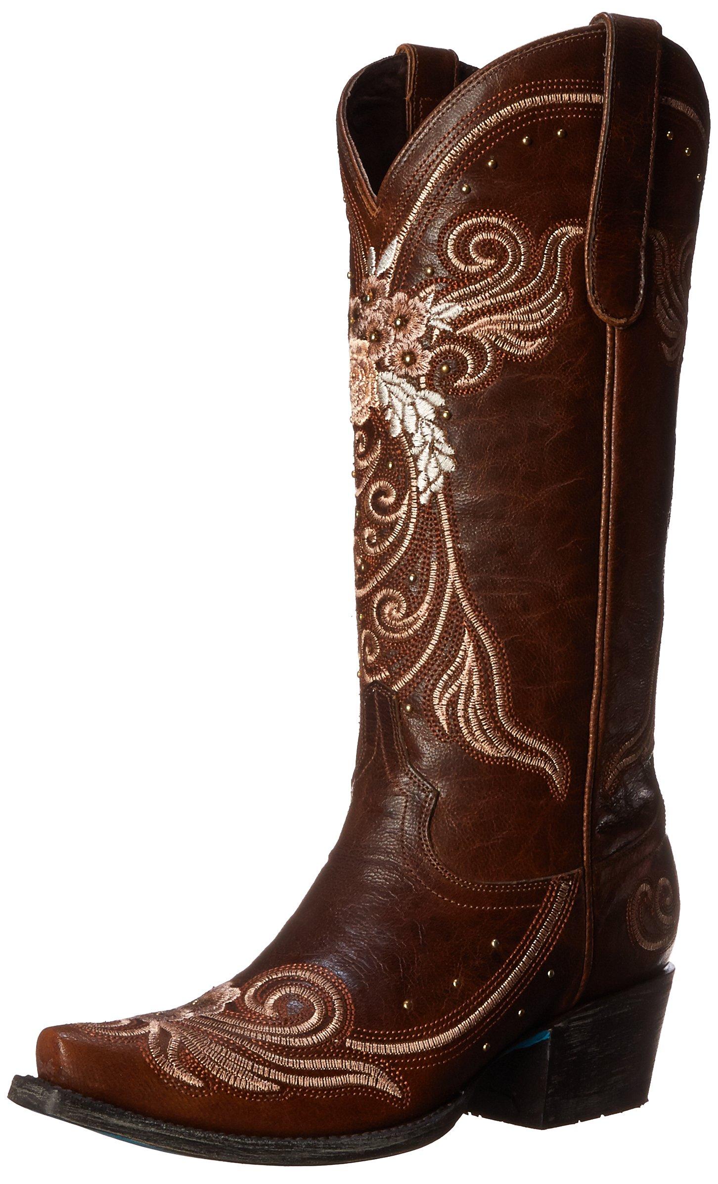 Lane Boots Women's Wedding Western Boot, Brown, 9 M US