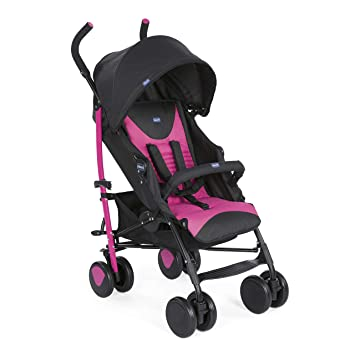 Chicco New Echo - Silla de paseo, ligera y compacta, color rosa, 7,6 kg: Amazon.es: Bebé