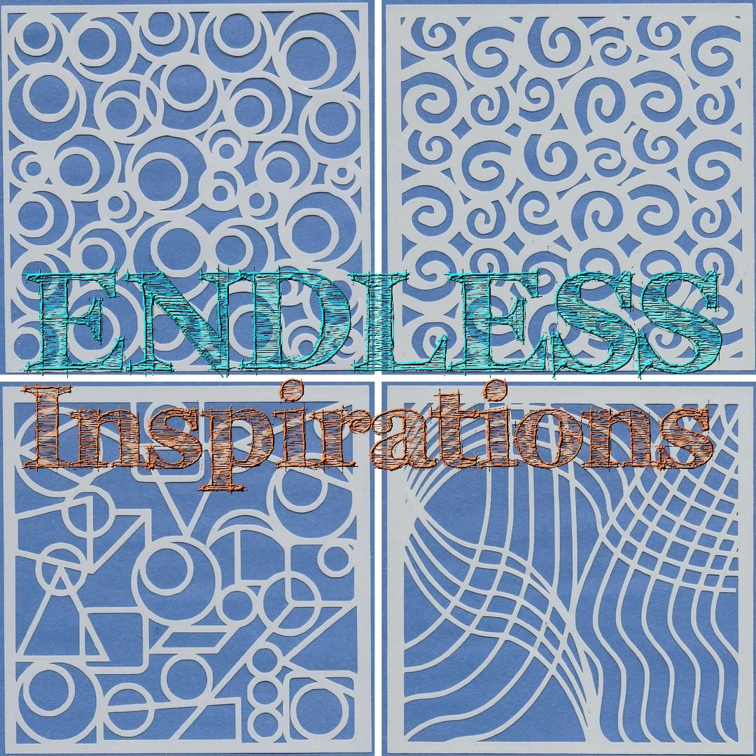 Endless Inspirations Original Stencils, 6x6 Inch, Abstract Bundle 1, 4 Pack - Abstract A, C, G, H