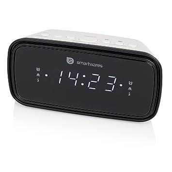 Smartwares CL-1515 - Reloj Despertador con Dos Alarmas ...